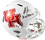 Ed Oliver Autographed Houston Cougars Full Size Helmet Inscribed 3x All American