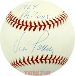 Vic Power Autographed Official National League Baseball Inscribed 1964 Phillies