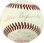 Allie Reynolds Autographed Vintage Reach AL Baseball with Inscriptions