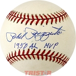 Phil Rizzuto Autographed American League Baseball Inscribed 1950 AL MVP