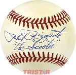 Phil Rizzuto Autographed Official AL Baseball Inscribed The Scooter