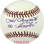 Phil Rizzuto Autographed Official ML Baseball Inscribed The Scooter