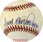 Frank Robinson Autographed Official AL Commemorative Baseball Inscribed 4/8/1975