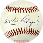 Aurelio Rodriguez Autographed Official American League Baseball