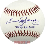 Jimmy Rollins Autographed Official Major League Baseball Inscribed 2007 NL MVP