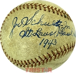 Joe Schultz Jr. Autographed Official AL Baseball Inscribed St. Louis 1943