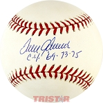 Tom Seaver Autographed Official National League Baseball Inscribed Cy 69, 73, 75