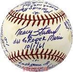 Tracy Stallard Autographed Official AL Baseball Inscribed with Story of Roger Maris' 61st Home Run