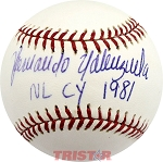 Fernando Valenzuela Autographed Official ML Baseball Inscribed NL Cy 1981