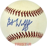 Bob Wolff Autographed Official American League Baseball