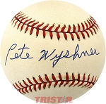Pete Wyshner Autographed Official American League Baseball