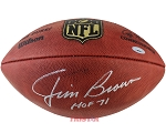 Jim Brown Autographed Wilson Official NFL Football Inscribed HOF 71