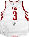 Chris Paul Autographed Houston Rockets White Fast Break Jersey