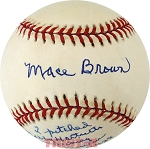 Mace Brown Autographed Official NL Baseball Inscribed