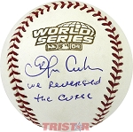 Orlando Cabrera Autographed 2004 World Series Baseball Inscribed We Reversed the Curse