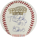 Frank Castillo Autographed 2004 World Series Baseball Inscribed WS Champs