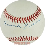 Frank Evans Autographed Official National League Baseball