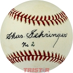 Charlie Gehringer Autographed Official AL Baseball Inscribed No. 2