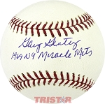 Gary Gentry Autographed Official Major League Baseball Inscribed 1969 NY Miracle Mets