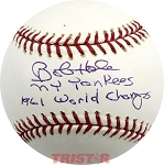 Bob Hale Autographed Official Major League Baseball Inscribed NY Yankees 1961 World Champs