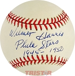 Wilmer Harris Autographed Official National League Baseball