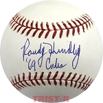 Randy Hundley Autographed Official Major League Baseball Inscribed 69 Cubs