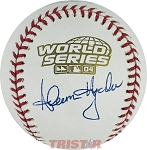 Adam Hyzdu Autographed 2004 World Series Baseball