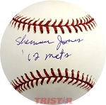 Sherman Jones Autographed Official Major League Baseball Inscribed 62 Mets