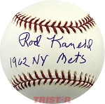 Rod Kanehl Autographed Official ML Baseball Inscribed 1969 NY Mets