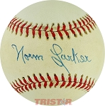 Norm Larker Autographed Official National League Baseball