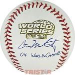 Dave McCarty Autographed 2004 World Series Baseball Inscribed 04 World Champs