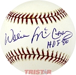 Willie McCovey Autographed Official NL Baseball Inscribed HOF 86