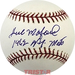 Herb Moford Autographed Major League Baseball Inscribed 1962 NY Mets
