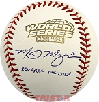 Mike Myers Autographed 2004 World Series Baseball Reverse the Curse