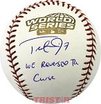 Trot Nixon Autographed 2004 World Series Baseball Inscribed We Reversed The Curse!