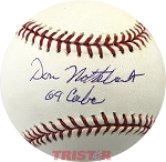 Don Nottebart Autographed Official Major League Baseball Inscribed 69 Cubs