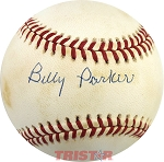 Billy Parker Autographed Official American League Baseball