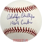Adolfo Phillips Autographed Official Major League Baseball Inscribed 1969 Cubs