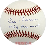 Al Rosen Autographed American League Baseball Inscribed MVP AL 1953