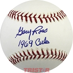 Gary Ross Autographed Baseball Inscribed 1969 Cubs