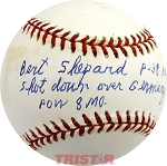 Bert Shepard Autographed Baseball Inscribed P-38 Pilot Shot Down Over Germany POW