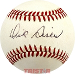Dick Sisler Autographed Official American League Baseball