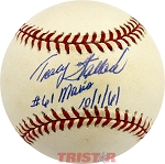 Tracy Stallard Autographed American League Baseball Inscribed 61 to Maris 10-1-61