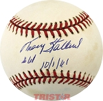Tracy Stallard Autographed Official American League Baseball Inscribed # 61 10-1-61