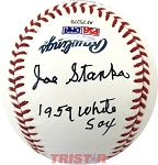 Joe Stanka Autographed Major League Baseball Inscribed 1959 White Sox