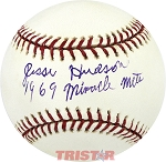 Jesse Hudson Autographed Official Major League Baseball Inscribed 1969 Miracle Mets