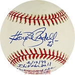 Howie Bedell Autographed Baseball Inscribed I Hit the Ball that Scored the Run