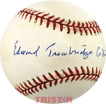 Eddie Collins, Jr. Autographed Official American League Baseball Inscribed with Full Name