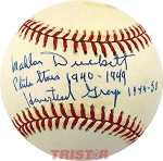 Mal Duckett Autographed Official AL Jackie Robinson Commemorative Baseball Inscribed
