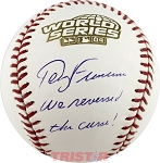 Terry Francona Autographed 2004 World Series Baseball Inscribed We Reversed The Curse!